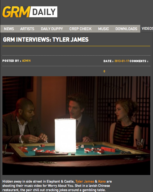 Tyler James Interview