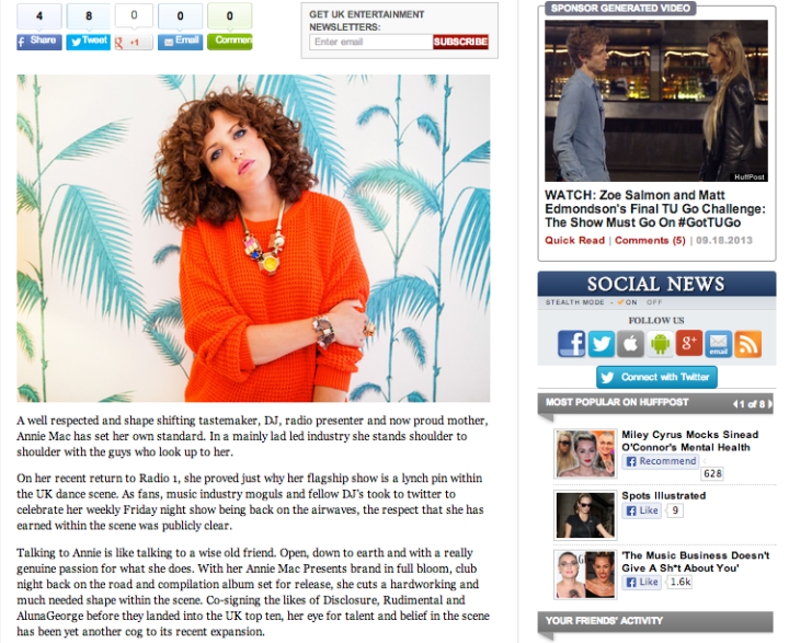 WHY THE MUSIC INDUSTRY NEEDS ANNIE MAC BY CARLY WILFORD