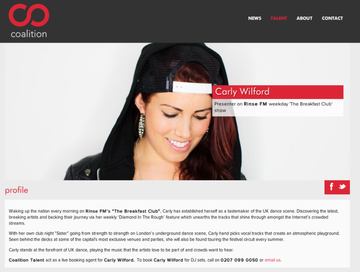 CARLY WILFORD COALITION TALENT