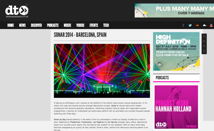 SONAR FESTIVAL REVIEW 2014