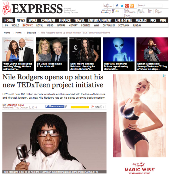 CARLY WILFORD NILE RODGERS THE EXPRESS