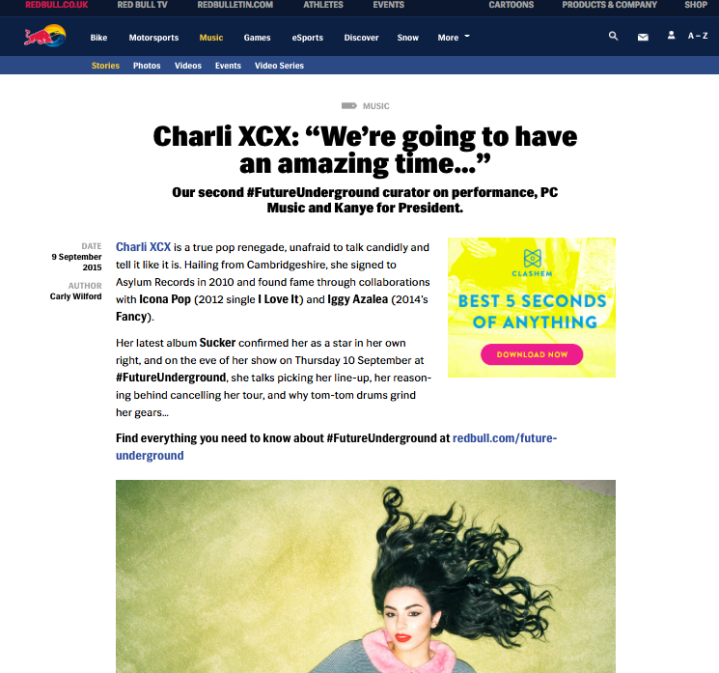 CARLY WILFORD CHARLI XCX INTERVIEW