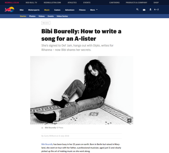 CARLY WILFORD BIBI BOURELLY INTERVIEW