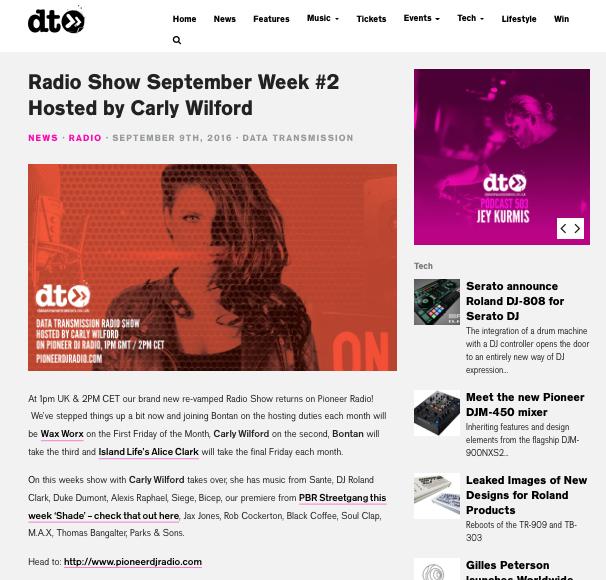 CARLY WILFORD DATA TRANSMISSION RADIO