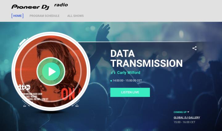 CARLY WILFORD PIONEER DJ RADIO DATA TRANSMISSION